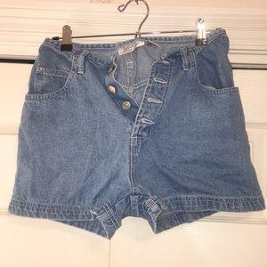 High waisted denim shorts - thrifted